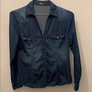 Silver Jean Button-up